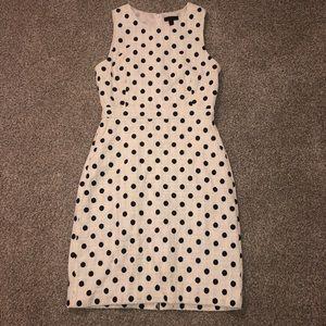 J. Crew Sheath Dress in Polka Dot Texture Tweed